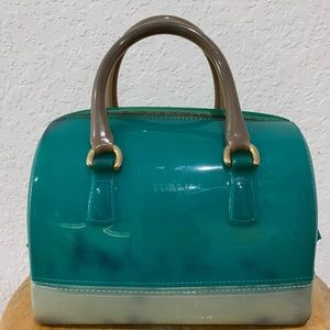 Furla SmallJelly Turquoise Candy Satchel Bag